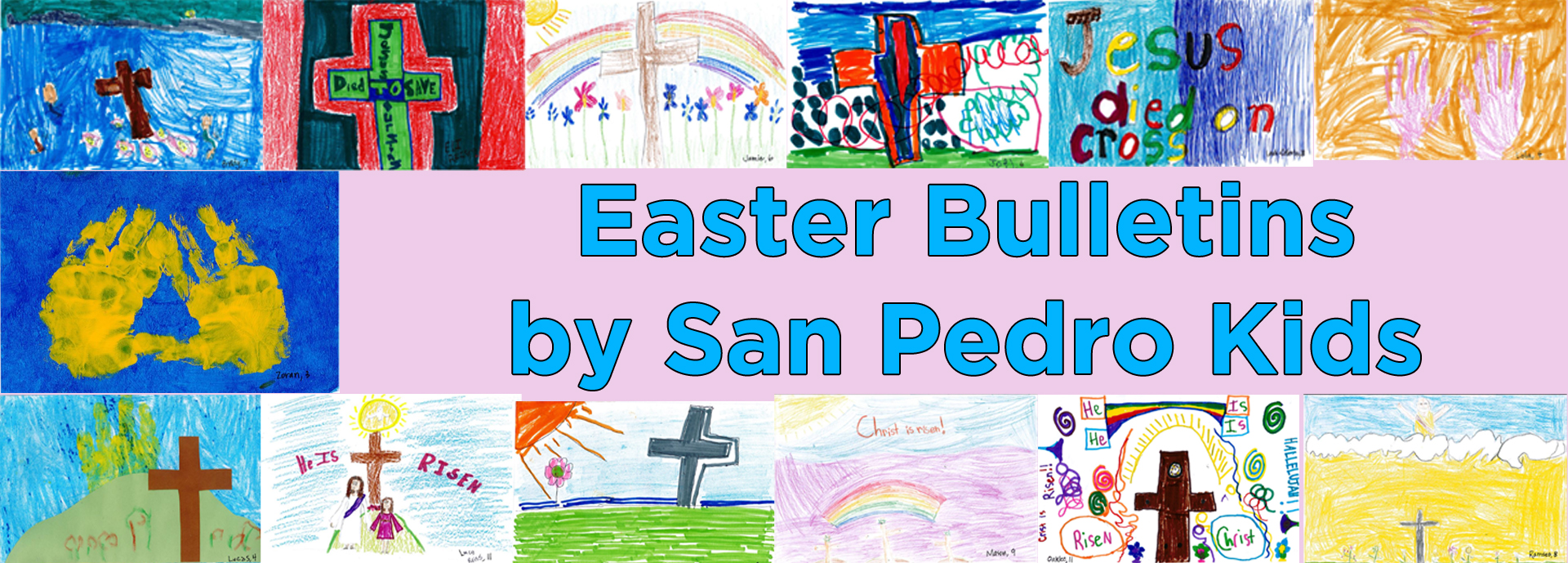 Easter bulletins webpage header